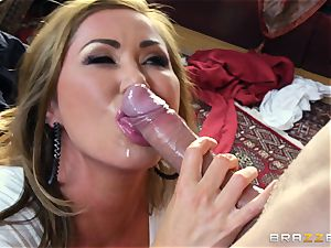 Kianna Dior catches her step daughter boinking a brit dude and steps in