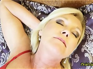 milf masturbation and Toe fellating climaxes with Ms Paris