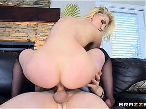 pecker thirsty blonde Ashley Fires torn up in her ass-hole