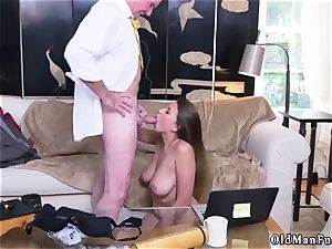 Latino father and bisexous cheating man very first time Ivy amazes with her thick jugs and caboose