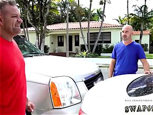 mom and crony s daughter-in-law massage dad teaches how to grapple Driving Lespatron s sonnies