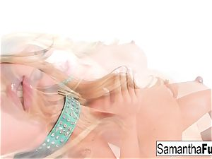 Samantha Plays With A enormous dildo