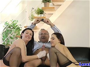 european mature nails stunner with spouse