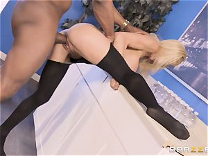 Alexis Fawx pulverized by phat big black cock