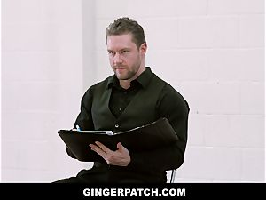 GingerPatch - red-haired Ballerina railing Judges thick dick