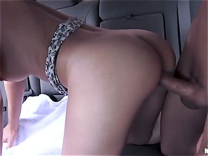 Joseline Kelly rails man meat in the car and cum strewn