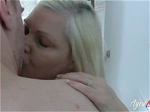 AgedLovE buxomy Mature Lacey Starr gonzo paramour