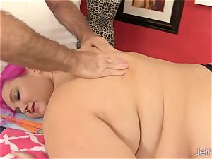 Fatty Sara starlet receives a fuck-fest fucktoy rubdown