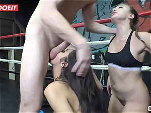 super-hot boxer babes pummel and splatter like horny