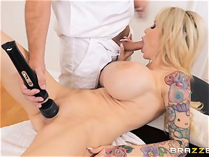 plowing the poon of kinky immense FF boobs Danielle Derek