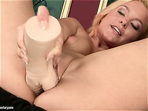 Tara rosy taking off panties with other steamy platinum-blonde honey