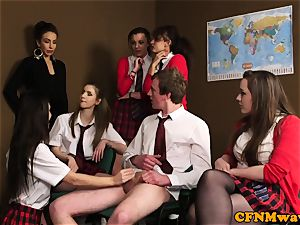 female dom cfnm educator abase dude in class