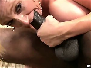 ultra-kinky Sara Jay rides her hot muff on this yam-sized fuck-stick