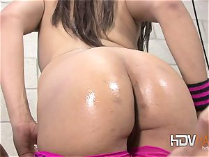 enormous man-meat puss internal cumshot for ebony Alicia taunt
