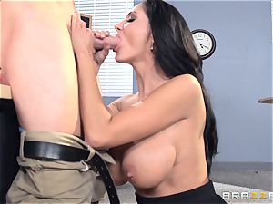 huge-boobed professor Ava Addams is pounded by her student