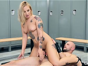 JMac delves his man-meat deep into steamy blond in locker apartment