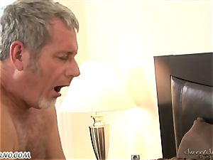 father pummels his youthfull stepdaughter Nicole Ray