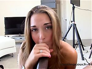 Castingcouch-HD Marry Lynn is jumpy. Not for long.